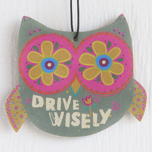 Natural Life Drive Wisely Owl Air Freshener (3pk)