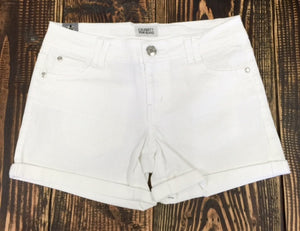 Rolled Hem Mid Rise Shorts