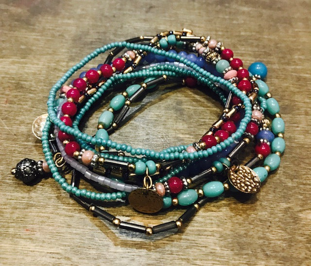 Multi Layer Beaded Bracelet