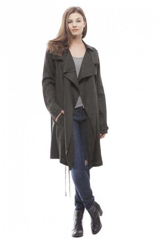 Dusty Olive Trench Coat