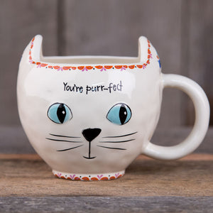 Natural Life Cream Cat You're Purr-fect Mug