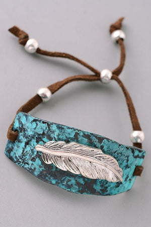 Tarnished Leaf Bracelet