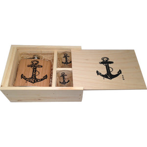 Anchor Flask Gift Set  - Down the Hatch