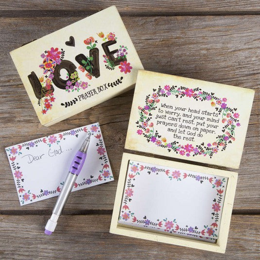 Natural Life Love Wooden Prayer Box