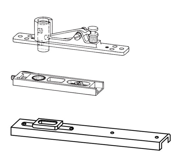 DORMA DOUBLE ACTION ALUMINIUM DOOR ACCESSORIES FOR FLOOR SPRING - TOP CENTER AND BOTTOM STRAP XL -C 1013A