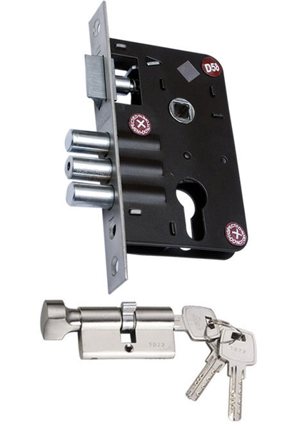 Krome Premium Mortise Lock Body with 3 Bolt