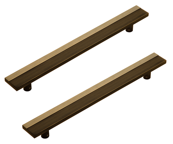 Kakal Brothers Glass Door Pull Handle Side Grooves (Pair)