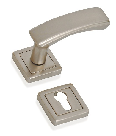 Indobrass Sterling Rose Mortise Handle Complete Set
