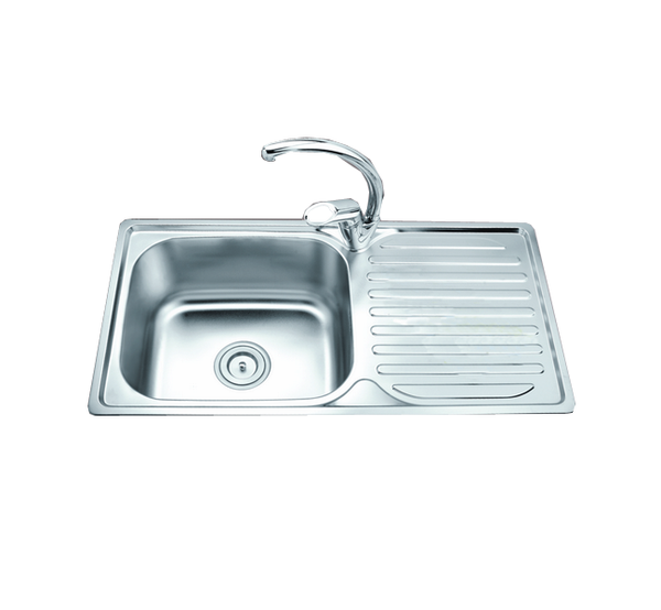 EBCO SINGLE BOWL WITH DRYING BOARD Sink KS SBDB1