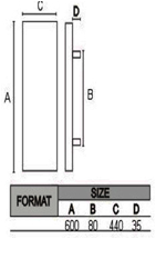 RT-643A Dimensions in mm