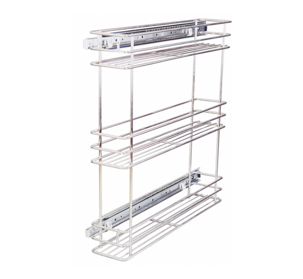 Ebco Side Pullout Frameless 2 Tier