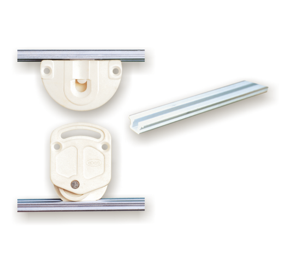 Ebco Plastic rail for Sliding Cabinet Shutter Fittings SCFP 1 3