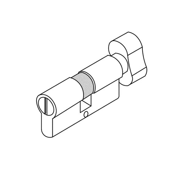 DORMA EURO PROFILE CYLINDER ONE SIDE KNOB AND OTHER SIDE EMERGENCY RELEASE SLOT  XL - C