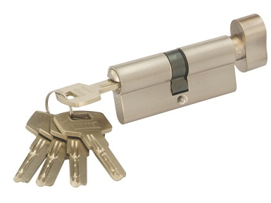 Krome Cylinder Lock with 5 ULTRA Keys - Key to Knob