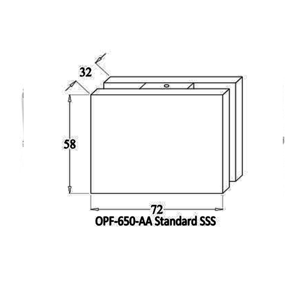 Ozone OPF-650 AA Glass to Glass Connecting Patch