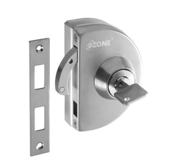 Ozone Glass Door Lock with Strike plate OPL-4A-N-S