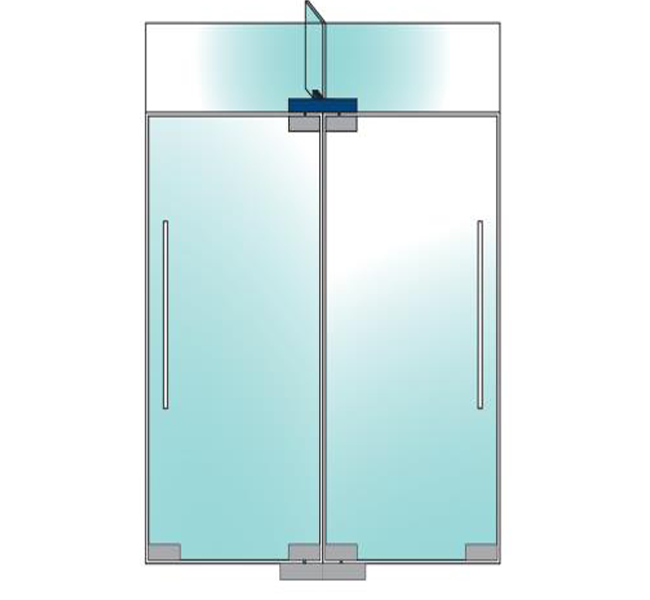 Ozone Double Pivot Patch For Back To Back Door With Fin-3 OSSPF-51