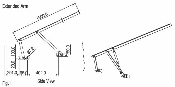 Bed Lift Fitting Extended Arms