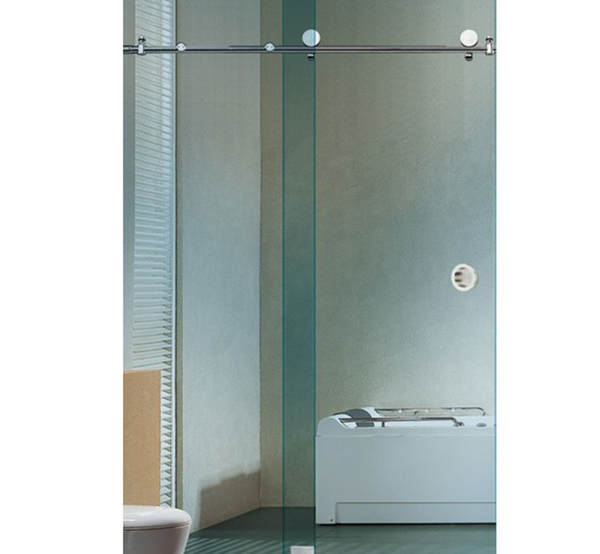 Ebco Shower Sliding Fitting - Round Pipe