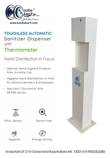 TOUCHLESS AUTOMATIC SANITIZER DISPENSER WITH THERMOMETER