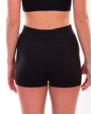 Ladies fitted shorts, 87% Polyester, 13% Elastane