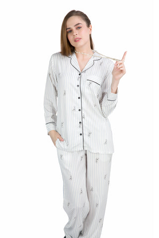 Striped Teddy PJ Set