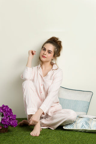 Classic Pink Stripes PJ Set