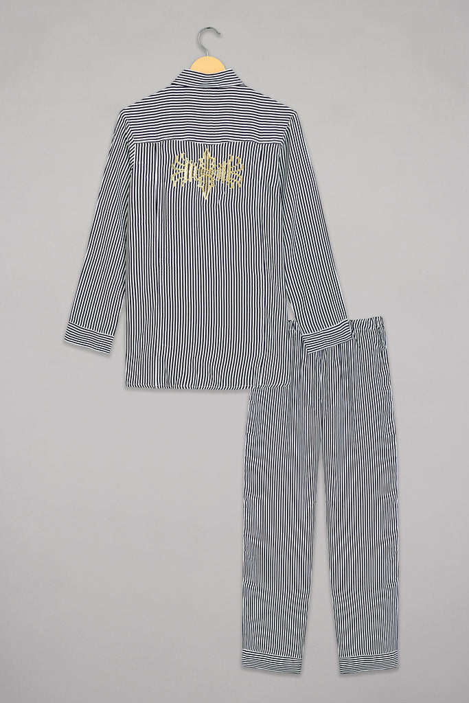 Noir Striped Pyjama Set