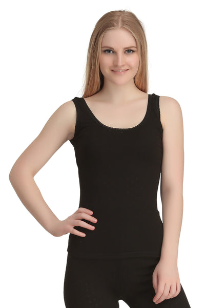 Thermal Sleeveless Vest Black