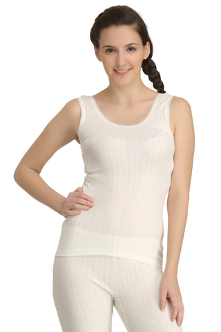 Thermal Sleeveless Vest Off-White