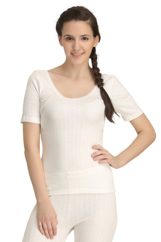Thermal Top Short Sleeve Off-white
