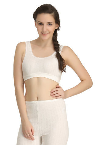 Thermal Short Vest Off-white