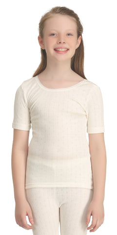Girls Short Sleeve Thermal