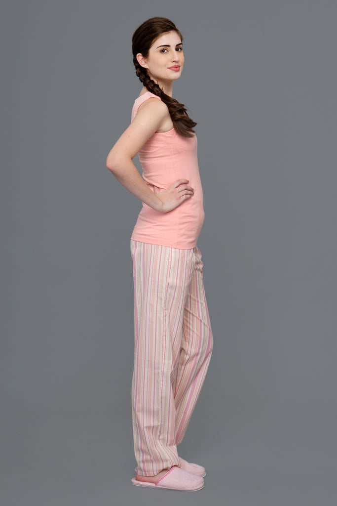 Peach Stripes Pyjama Set