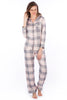Grey & Pink Checkered Pyjama Set