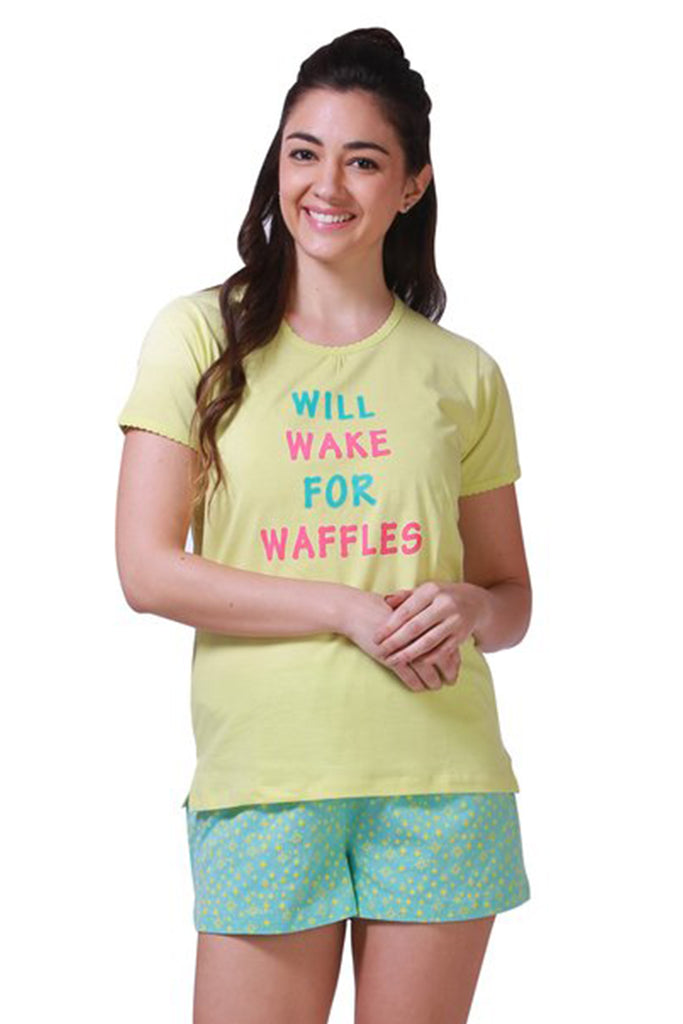 Will Wake for Waffles Shorts Set