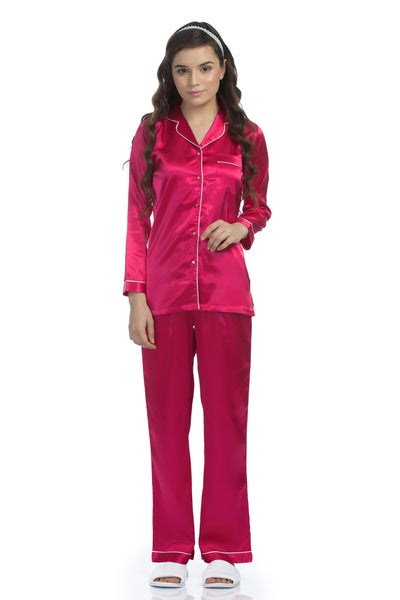 Cherry Satin Pyjama Set