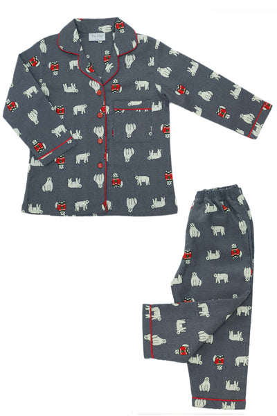 Polar Bear Flannel Pyjama Set