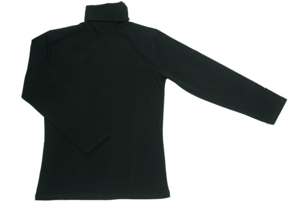 Black Polo Neck Top