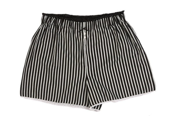 Black & White Stripes Shorts