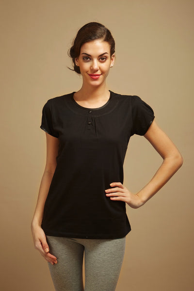 Slimming Black Lounge Tee