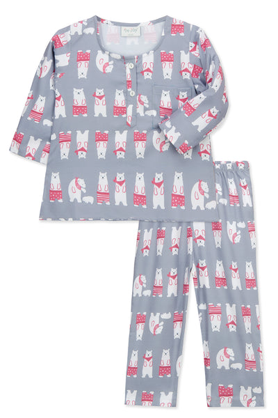 Grey Polar Bear Pyjama Set