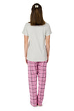 Oatmeal Pink Checkered Pyjama Set