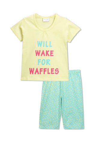 Will Wake for Waffles Pyjama Set