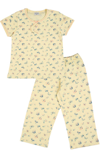 Butterfly Capri Set