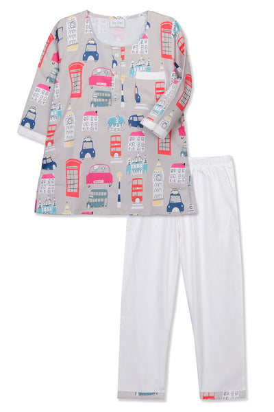 Cars Kurta Pyjama Set