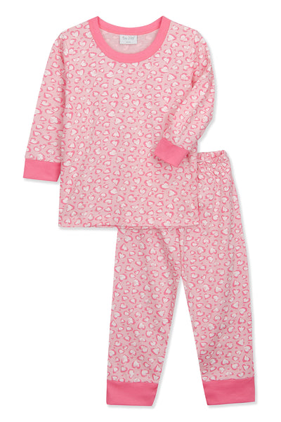 Hearty Love Print Pyjama Set