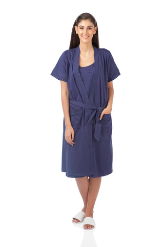 Navy Knits Robe