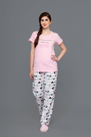 "I don""t do mornings without my Coffee Pyjama Set"