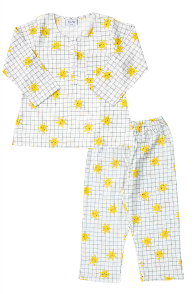 Checkered Sunshine Kurta Pyjama